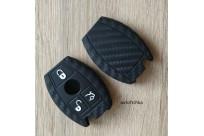 Силиконовый чехол под карбон на ключ Mercedes Benz W203 W211 CLK C180 E200 AMG C E