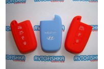 Силиконовый чехол на ключ Hyundai (смарт, 3,4 кнопки)