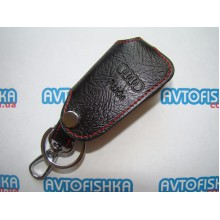 Кожаный чехол на ключ AUDI (СКЛАДНОЙ)