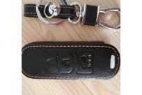 Кожаный чехол на ключ Mazda M2/M3/M6/CX-5/CX-7 (смарт) 3  кнопки